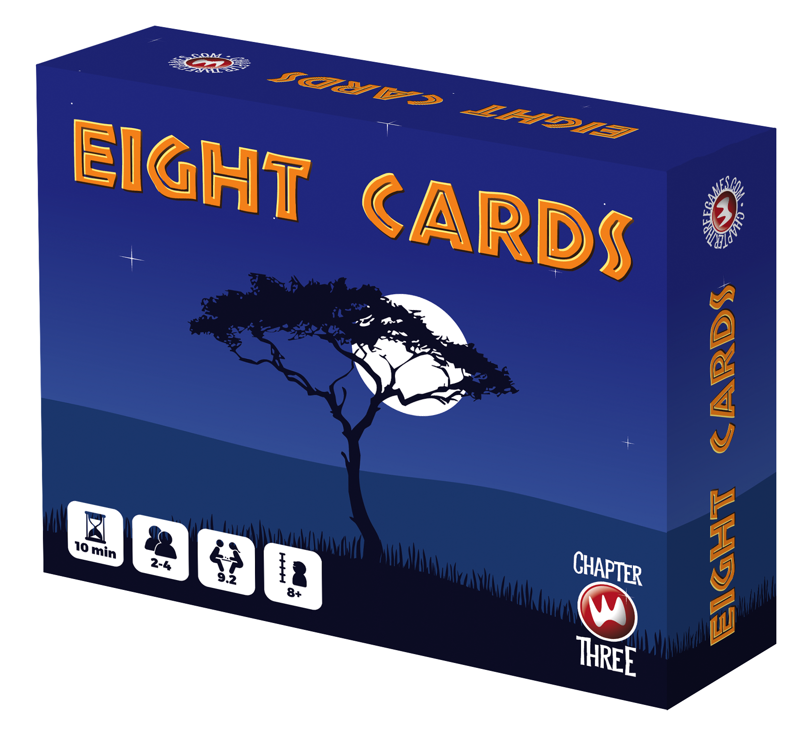 Eight Cards Game Box