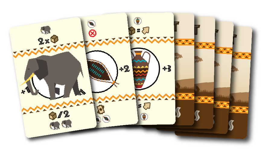 Eight Cards Playing Cards