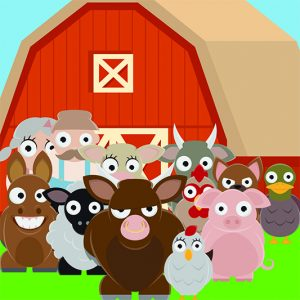 You're an animal living on a farm run by lazy farmers. If you want to eat, you and the other animals will need to grow your own food, get it to market to sell, and stay quiet as the town is amazed at how great the lazy farmer is at farming...